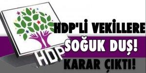 HDP'li vekillere soğuk duş! Karar çıktı
