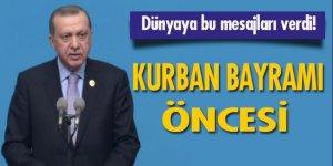 Cumhurbaşkanı Erdoğan Çin'den dünyaya bu mesajları verdi