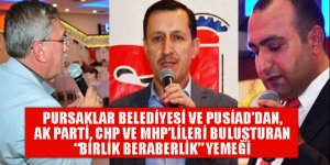 Pursaklar'da AK Parti, CHP ve MHP'lileri buluşturan 'birlik beraberlik yemeği'