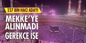 Hac izni olmayan 237 bin kişi Mekke'ye alınmadı