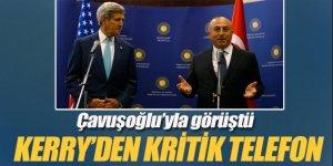 Mevlüt Çavuşoğlu ile John Kerry telefonda görüştü