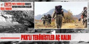 PKK'lı teröristler aç kaldı: 'Köylerden kovuluyorlar'