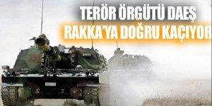 Terör örgütü DAEŞ Rakka'ya doğru kaçıyor