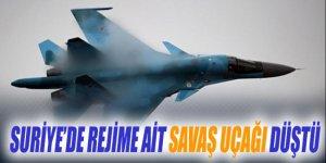 Suriye ordusuna ait bir uçak Şam yakınlarında düştü