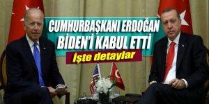 Cumhubaşkanı Erdoğan, Biden'ı kabul etti
