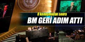 Erdoğan'ın konuşmasından sonra BM geri adım attı