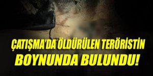 Öldürülen teröristin boynunda haç kolye bulundu