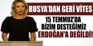 Rusya'dan geri vites! Bizim desteğimiz Erdoğan'a değildi...