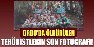 Ordu'da öldürülen teröristlerin son fotoğrafı!