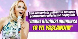 Sertap Erener, Harbiye Cemil Topuzlu Açıkhava Tiyatrosu'nda verdiği konserinde 15 Temmuz gecesi yaşadıklarını anlattı.