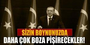 Erdoğan: Sizin boynunuzda daha çok boza pişirecekler!
