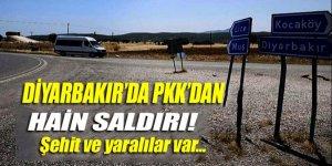 Diyarbakır'da Askeri üs bölgesine PKK'dan alçak saldırı!