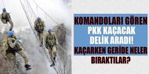 Komandoları gören PKK kaçacak delik aradı!
