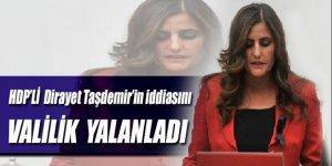 HDP'li Dirayet Taşdemir'in iddiasına yalanlama