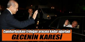 Erdoğan, Putin'i aracına kadar uğurladı!