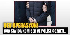 İstanbul'da dev FETÖ operasyonu! Komiser ve polislere gözaltı...