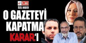Davutoğlu'nun gazetesine kapatma 'Karar'ı'