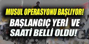 Musul'u kurtarma operasyonu başlıyor