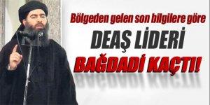 'DEAŞ lideri Bağdadi kaçtı!'
