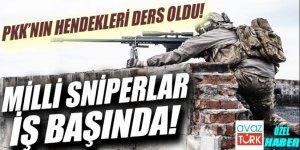 PKK'nın hendekleri ders oldu.Milli sniperlar iş başında!