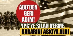ABD'den geri adım! YPG'ye silah verme kararı askıda
