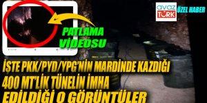 PKK/PYD/YGP terör örgütünün kazdığı 400 mt'lik tünel imha edildi