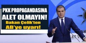 Çelik: PKK propagandasına alet olmayın
