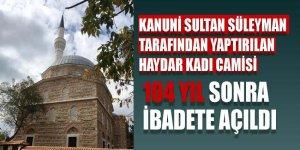 O camiden 104 yıl sonra ezan sesi yükseldi