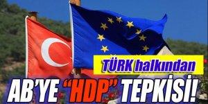 Türk halkından AB'ye 'HDP' tepkisi