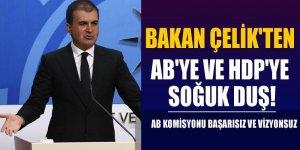 Bakan Çelik'ten AB'ye ve HDP'ye soğuk duş!