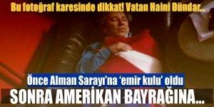 Vatan haini Can Dündar Amerikan Bayrağına sarıldı
