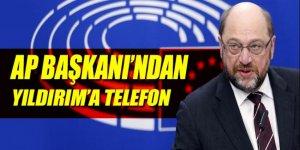 Başbakan Yıldırım ile AP Başkanı telefonda görüştü!