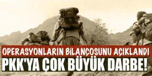 Operasyonların bilançosunu açıkladı! PKK'ya büyük darbe