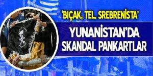 Yunanistan'da 'Srebrenitsa' pankartı