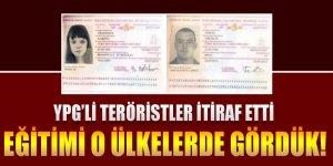 YPG'li teröristler itiraf etti eğitimi o ülkelerde gördük!