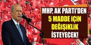 AK Parti'nin başkanlık teklifine MHP'den değişiklik talebi!