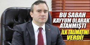 Kayyum atanan Belediye Başkanı Taşkın'dan ilk talimat!