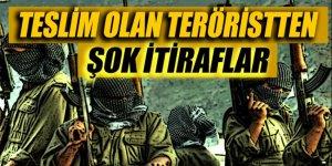 Teslim olan teröristlerden kan donduran itiraflar