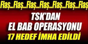 TSK'dan El Bab operasyonu: 17 hedef imha edildi