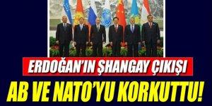 AB ve NATO Erdoğan'ın Şangay çıkışından rahatsız oldu