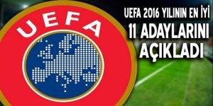 UEFA, 2016 yılının en iyi 11'i adaylarını açıkladı