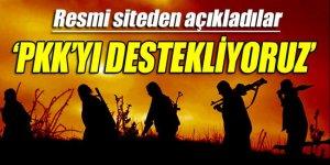 Resmi sitelerinden açıklama: PKK'yı destekliyoruz