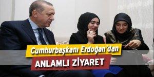 Erdoğan'dan 15 Temmuz şehidinin evine ziyaret