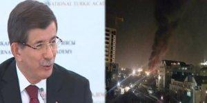 Davutoğlu'ndan patlamayla ilgili ilk açıklama