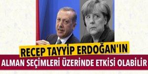 Recep Tayyip Erdoğan'ın Alman seçimleri üzerinde etkisi olabilir