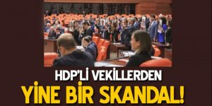 HDP'li vekillerden bir skandal daha!