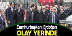 Cumhurbaşkanı Erdoğan hain saldırının gerçekleştiği olay yerinde