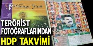 HDP takvimde PKK'lı teröristleri kullanmış