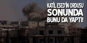 Esed rejimi sivillere misket bombası attı