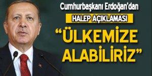 Cumhurbaşkanı Erdoğan'dan Halep açıklaması!